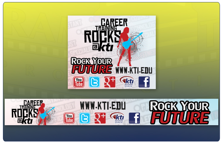 KTI's Rock Your Future Web Graphics