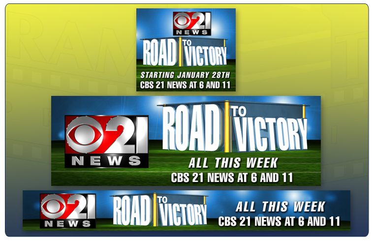 CBS21's Road To Victory Web Graphics
